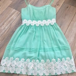 ModCloth Mint Green Dress with Lace Detail Sz M